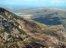 概略的克里特岛横向,克利特 库存图片