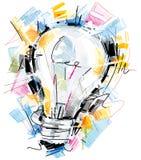 概略的电灯泡 免版税图库摄影