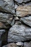 概略的石块墙壁  免版税库存照片