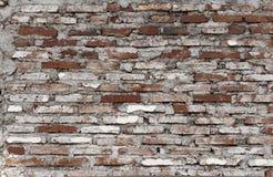 概略的砖墙纹理 免版税库存照片