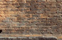 概略的砖墙背景 免版税库存图片