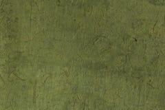 概略的绿色上色了韩国或日本传统报纸 库存图片