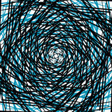 概略的锋利样式或纹理在一颜色和黑色 向量例证