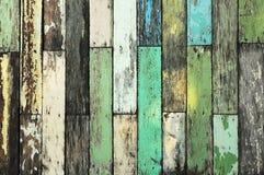 概略的颜色木墙壁纹理 免版税库存图片