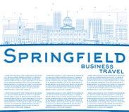 概述与蓝色大厦和拷贝空间的斯普林菲尔德地平线 库存例证
