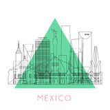 概述墨西哥地平线 库存照片