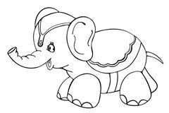 概述的大象 免版税库存图片