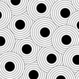 概述的黑色小点 库存图片