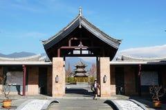 榕树旅馆在丽江 库存图片
