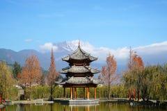 榕树旅馆在丽江 免版税库存照片