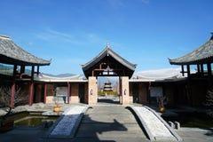 榕树旅馆在丽江 库存照片