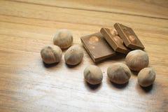 榛子和巧克力14 免版税库存图片