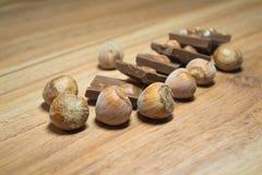 榛子和巧克力10 库存图片