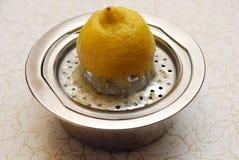 榨汁器柠檬 库存图片