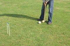 槌球使用 免版税图库摄影