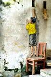 槟榔岛壁画乔治城马来西亚 免版税库存图片