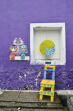 槟榔岛壁画乔治城马来西亚 免版税库存照片