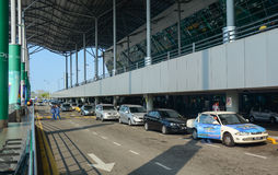槟榔岛机场,马来西亚看法  库存照片