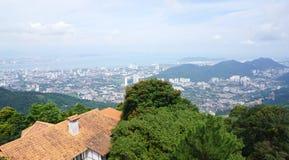 槟榔岛海岛Arial视图从槟榔岛小山的顶端 免版税库存照片