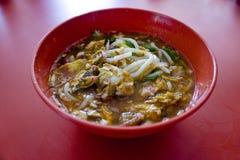 槟榔岛阿萨姆邦laksa,马来西亚人Nyonya食物 库存图片