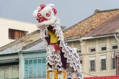 槟榔岛马来西亚中国新的肯定,狮子danse 库存照片