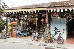 槟榔岛,马来西亚, 2017年12月19日:街市传统商店 库存照片