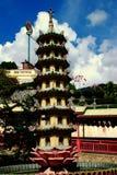 槟榔岛,马来西亚:Kek Lok Si寺庙莲花塔 库存照片