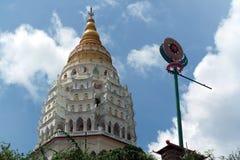 槟榔岛,马来西亚:Kek Lok Si寺庙 免版税图库摄影