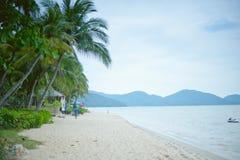 槟榔岛巴图Ferringhi海滩 免版税库存照片