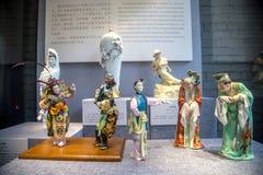槭树溪区域民间瓦器和瓷工作,潮州市,广东 它称`梅普尔克里克瓷` 免版税库存照片