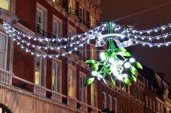 槲寄生圣诞节装饰 免版税库存照片
