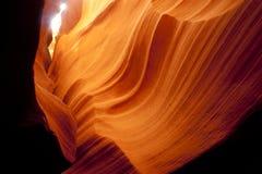 槽孔峡谷砂岩岩石地质沙漠西南亚利桑那美国 库存照片