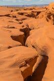 槽孔峡谷表面 免版税库存照片