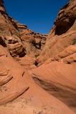 槽孔峡谷1 库存图片