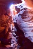槽孔羚羊峡谷的美丽的射击在亚利桑那,美国 库存图片