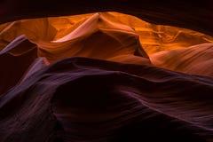 槽峡谷在亚利桑那 库存图片