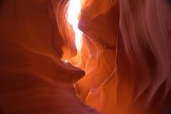 槽峡谷在亚利桑那 图库摄影