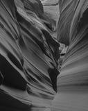 槽峡谷在亚利桑那 库存照片