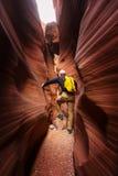 槽峡谷 库存照片