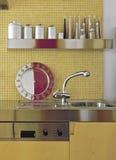 水槽细节在厨房里 库存照片