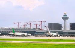 樟宜国际机场外部,新加坡 免版税库存照片