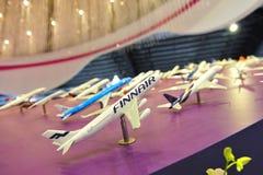 樟宜机场小组(CAG)陈列的航空器摊在新加坡Airshow塑造 库存照片