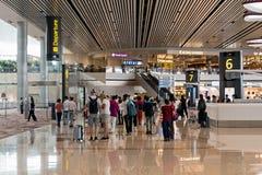 樟宜机场终端4 免版税库存图片