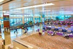 樟宜机场终端概要,新加坡 库存照片