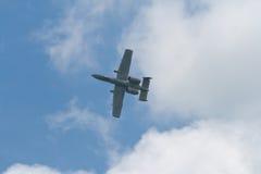 樟宜,新加坡- 2月6,2010 :美国空军空军队A-10雷电II战斗机 免版税库存图片