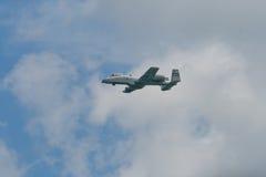 樟宜,新加坡- 2月6,2010 :美国空军A-10雷电II战斗机 免版税库存照片