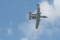 樟宜,新加坡- 2月6,2010 :美国空军A-10雷电II战斗机 图库摄影