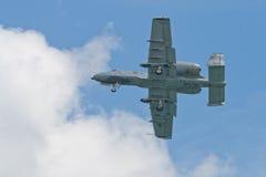 樟宜,新加坡- 2月6,2010 :美国空军A-10雷电II 图库摄影