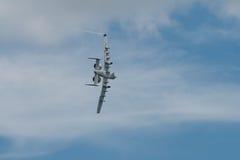樟宜,新加坡- 2月6,2010 :美国空军A-10雷电II 库存图片