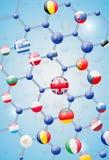 模型分子 免版税库存图片